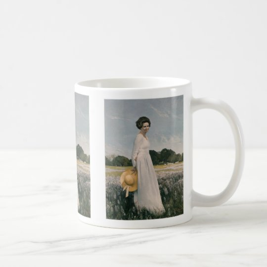 Lady Bird Johnson - Aaron Shikler (1978) Coffee Mug