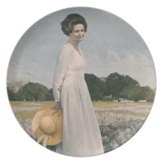 Lady Bird Johnson - Aaron Shikler (1978) Melamine Plate