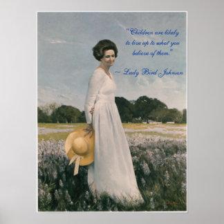 Lady Bird Johnson - Aaron Shikler (1978) Poster