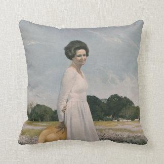 Lady Bird Johnson - Aaron Shikler (1978) Throw Pillow