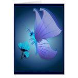Lady Blue Butterfly Card