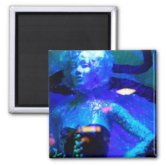 Lady Blue 2 Inch Square Magnet