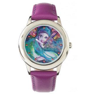 LADY BLUE MASK Elegant Venetian Masquerade Wristwatch