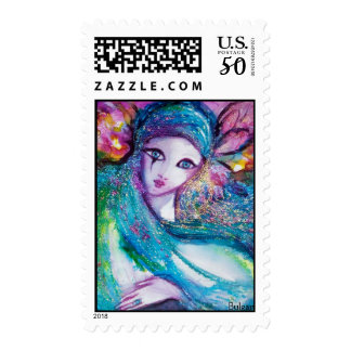 LADY BLUE MASK Venetian Masquerade Party Postage
