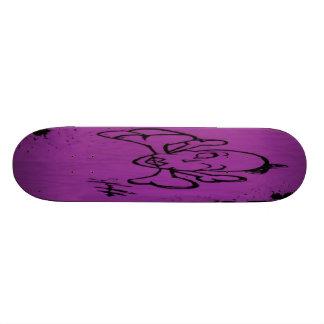 Lady Bones (Purple) Skateboard Deck