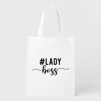 lady boss reusable grocery bag