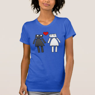 Lady Bots in Love T Shirt