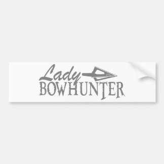LADY BOWHUNTER BUMPER STICKER