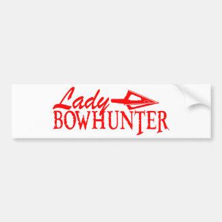 LADY BOWHUNTER BUMPER STICKER