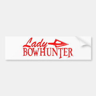 LADY BOWHUNTER BUMPER STICKERS