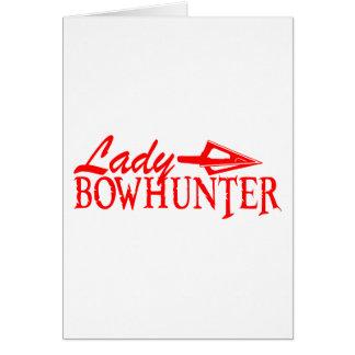 LADY BOWHUNTER GREETING CARD