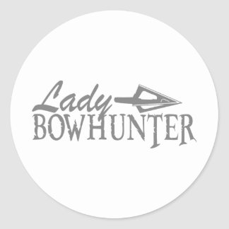 LADY BOWHUNTER CLASSIC ROUND STICKER