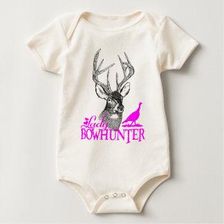 LADY BOWHUNTER DEER & TURKEY BABY BODYSUIT