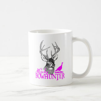 LADY BOWHUNTER DEER & TURKEY COFFEE MUG