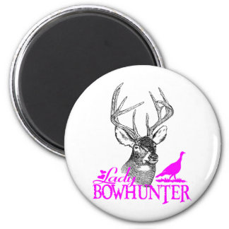 LADY BOWHUNTER DEER & TURKEY MAGNET