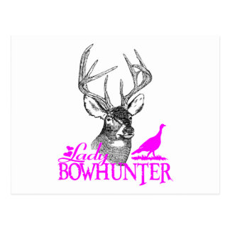 LADY BOWHUNTER DEER & TURKEY POSTCARD