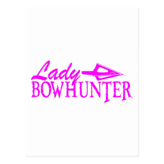 LADY BOWHUNTER POSTCARD