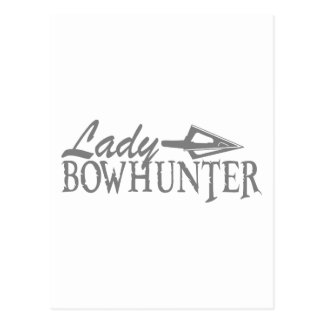 LADY BOWHUNTER POSTCARD
