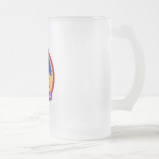 Lady Bowler 16 Oz Frosted Glass Beer Mug