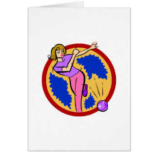 Lady Bowler Card