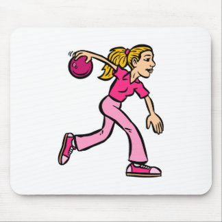Lady Bowler Mouse Pad