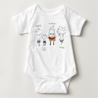 Lady Broccoli and the Gang Baby Bodysuit