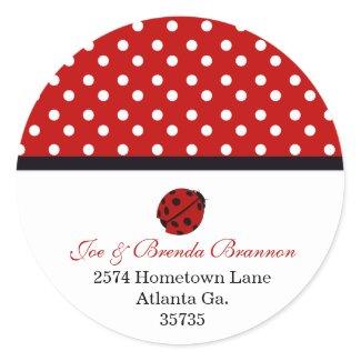 Lady Bug Address Labels sticker
