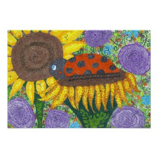Lady Bug Afternoon Poster - lady bug wall poster