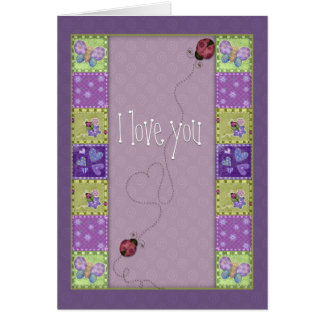 Lady bug and butterfly cards