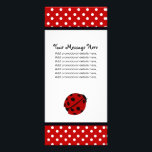 """Lady Bug and Polka Dots Rack Cards<br><div class=""""desc"""">High quality,  full-color,  Lady Bug and Polka Dots Rack Cards. For promoting your business,  advertising special offers,  etc..</div>"""