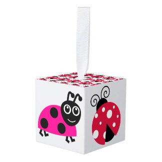 Lady bug Animal Office Custom Destiny Destiny'S Cube Ornament