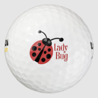Lady Bug Animal Print Logo Golf Balls