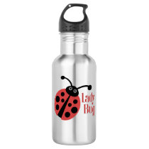 Lady Bug Animal Print Water Bottle