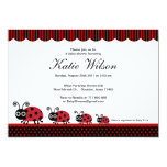 Lady Bug Baby Shower 5x7 Paper Invitation Card