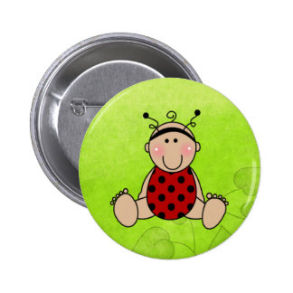 Lady Bug Baby Shower Party Favors Pinback Button
