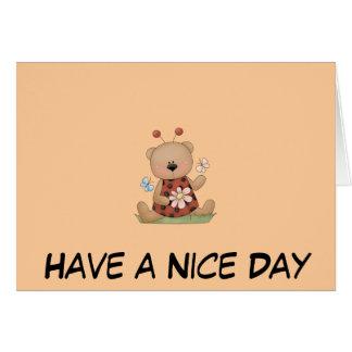 Lady Bug Bear Greeting Card