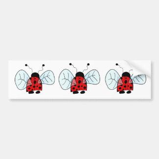 Lady bug car bumper sticker