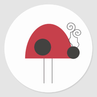 Lady Bug Cupcake Topper/Sticker Classic Round Sticker