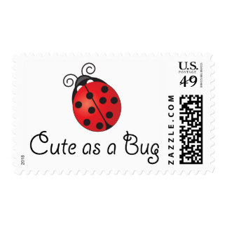 Lady Bug - Cute as a Bug Postage Stamps