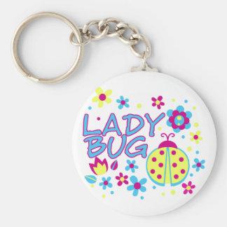 Lady bug design keychain