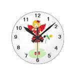 Lady Bug Fairy Clock