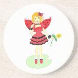 Lady Bug Fairy Coaster