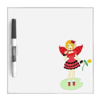 Lady Bug Fairy Dry Erase Whiteboards