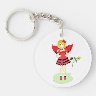 Lady Bug Fairy Keychain