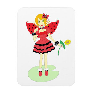Lady Bug Fairy Magnet