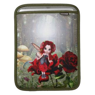 Lady Bug Fairy on Roses Sleeve For iPads