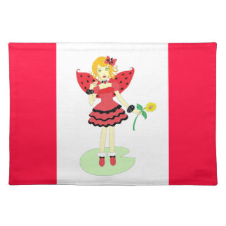 Lady Bug Fairy Placemat