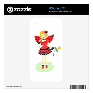 Lady Bug Fairy iPhone 4S Decals