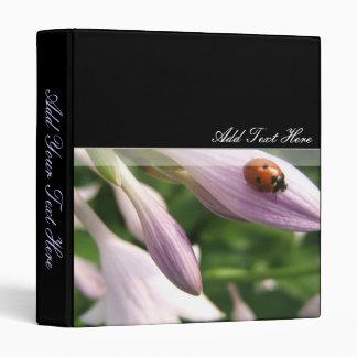 Lady Bug & Flower Binder