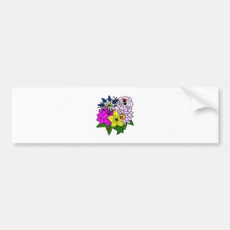Lady Bug Flower Bouquet Bumper Stickers